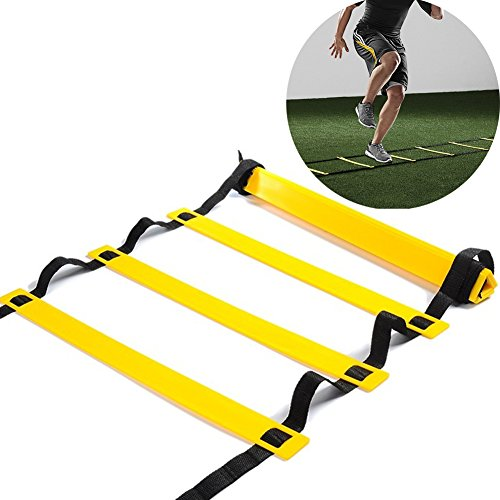 Speed Agility Ladder Kuyou 10 Rung Training Ladder For Soccer Speed Basketball Football Fitness Feet Training with Carry Bag 16 Feet