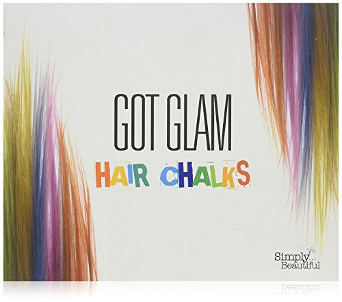 Hair Chalks Set For Children and Teens by Got Glam - 24 Temporary Hair Chalks For Instant, Non-Permanent Colour: Perfect for Fancy Dress, Parties, Festivals and Occasions ()