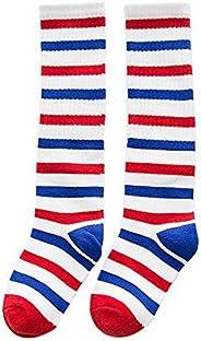 Comfortable Soft Children's Sports Long Socks, Red White Blue Str