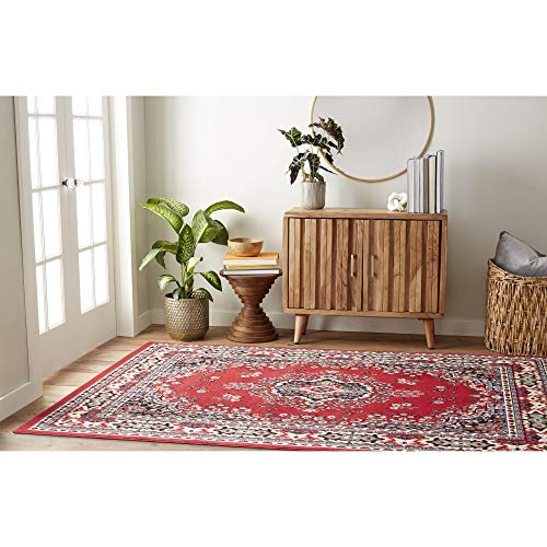 (Home Dynamix Premium Sakarya Traditional Area Rug, Oriental Red 5'2