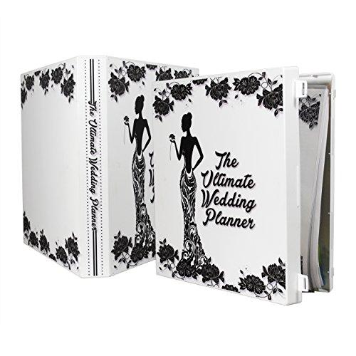 Folder Planning Wedding (UniKeep Keepsake Wedding Planning Binder Kit Organizer - Ultimate Guide for Planning a Wedding - Black Floral)