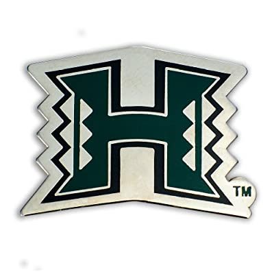 K Chang Hawaii University Lapel or Hat Pin UH Logo Green, Silver One Size free shipping