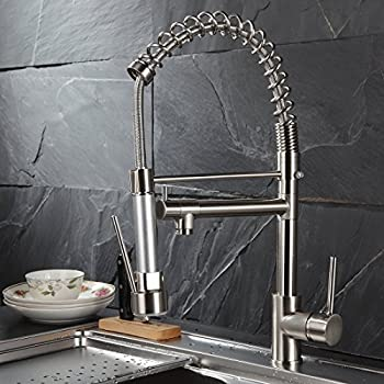 Flg Commercial Style Single Handle Pull Down Kitchen Sink