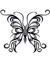 アゲハ蝶のタトゥーシール トライバルバタフライ #9