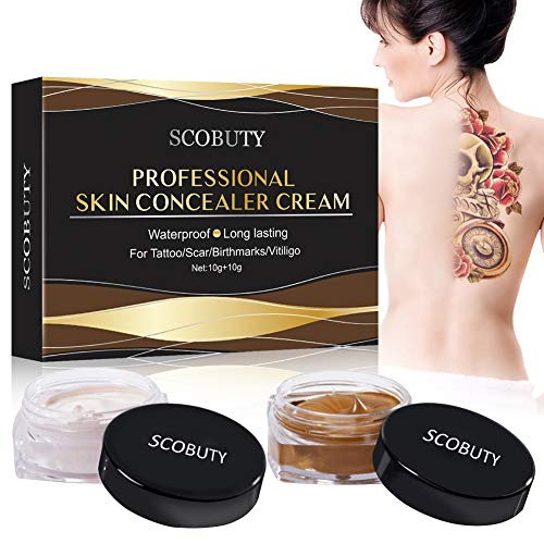 Tattoo Concealer,Concealer To Cover,Waterproof Tattoos Cover Up Makeup Concealer Set,Tattoo Scar Birthmarks Vitiligo,Waterproof Concealer