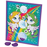 U.S. Toy Rainbow Pony Theme Bean Bag Toss Cornhole Game Set (5 Piece), Multicolor, One Size