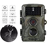 BOBLOV Hunting Wildlife Camera 1080p 12mp HD IR LEDS Infrared Night Vision 20m/65ft IP66 Waterproof PIR Motion Detect Game Trail Cam 0.6s Trigger Time
