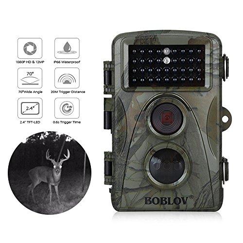 BOBLOV Hunting Wildlife Camera 1080p 12mp HD IR LEDS Infrare