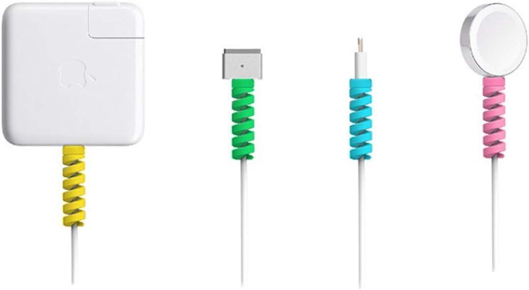 STOCK Weiches Silikon-Spiralkabel USB-Ladegerät Sparabdeckung Schutz Telefon