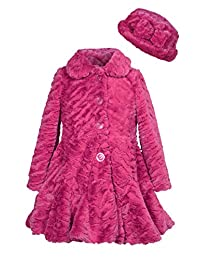 Widgeon girls Faux Fur Flounce Skirt Bottom Coat and Hat