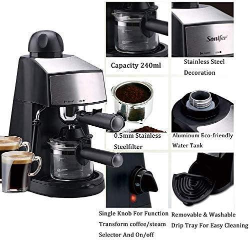 NLRHH Machines à café Machine Semi Automatique à café Expresso Grain à la Tasse de café One Touch Peng