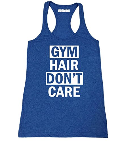 Royal Blue Training Top - P&B Gym Hair, Don't Care Women's Tank Top, XL, H. Royal