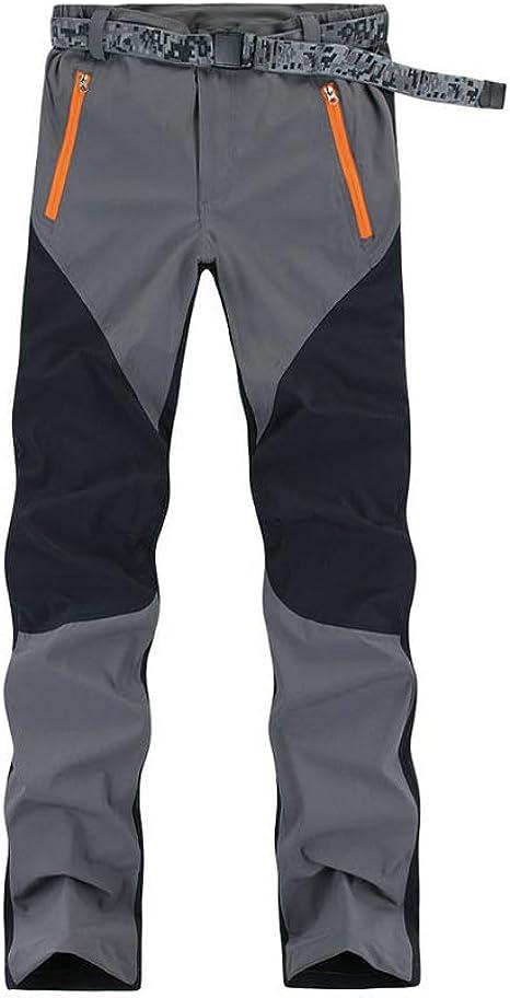 Ynport Windproof Softshell Tracksuits Winter Trekking Fleece Ski Hiking Pants Grey