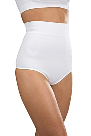 0d26a40fb Oakeysì COK02 Cotton high-Waisted Shaping Control Thong - Tummy Control  Underwear  Amazon.co.uk  Clothing
