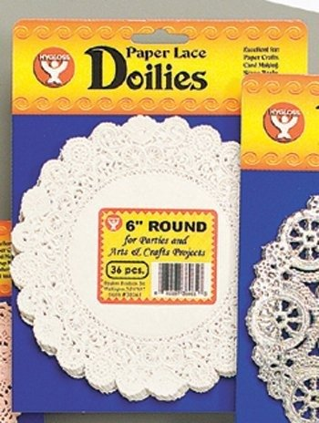 "Hygloss Products Round Paper Doilies - Decorative, White Lace Doilies, Disposable, 4"" Diameter, 100 Pack from Hygloss"