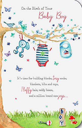 Amazon on the birth of your new baby boy congratulations on the birth of your new baby boy congratulations greeting card m4hsunfo