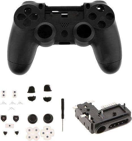 SeaStart - Juego de Carcasa Protectora para Mando Sony Playstation 4 PS4 (Incluye Botones Thumbsticks completos, Auriculares Jack y Destornillador útil): Amazon.es: Informática