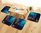 UHOO2018 Universal Chair Cushions Programm Code Technology Background of Software deve Personalized Durable W15.5 x L15.5/4PCS Set