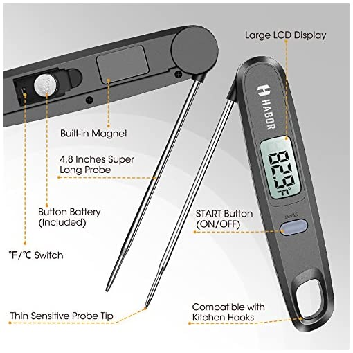 Cooking Thermometer, Habor UPGRADED Meat Thermometer Kitchen Thermometer