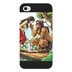 Diy Black Hard Plastic Case Disney Cartoon Tarzan for Diy For Ipod 2/3/4 Case Cover