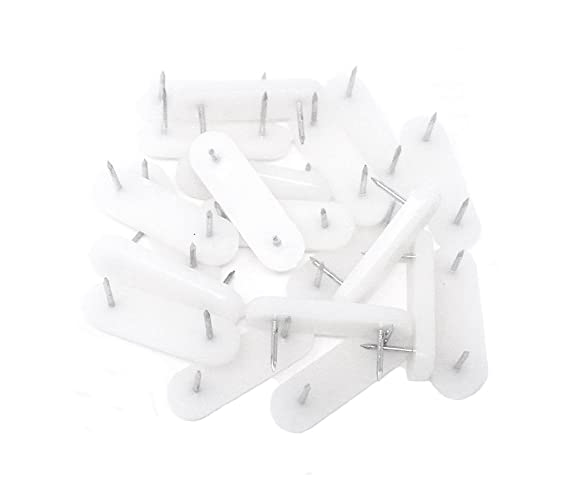 Honbay 20pcs Plastic Head Double Pins Bed Skirt Holding Pins