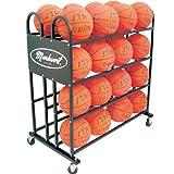 Stag Markwort 32 Ball Capacity Basketball Trolley, Black