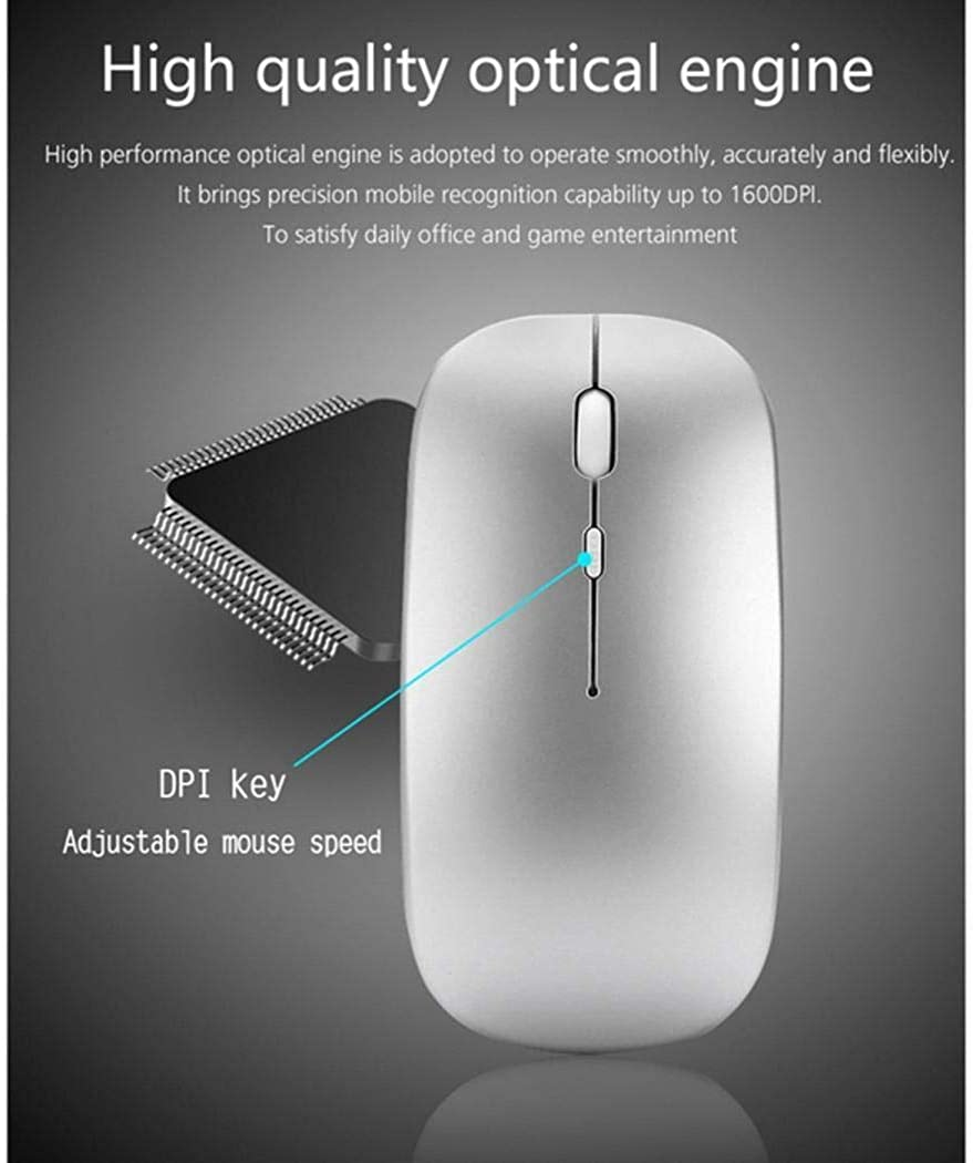 gonikm New Portable 2.4G Wireless Mouse Computer Laptop Game Mouse Mice