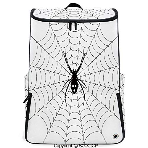 SCOCICI Large Casual Backpack,Poisonous Bug Venom Thread Circular