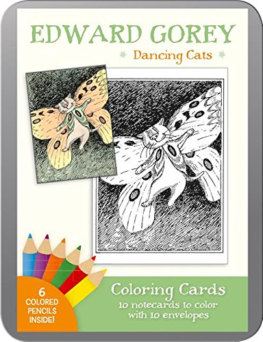 Edward Gorey Dancing Coloring Cards product image
