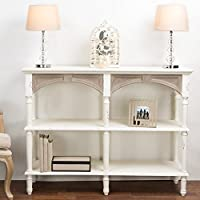 Baxton Studio Touraine Wood Traditional French Accent Console Drapier, White