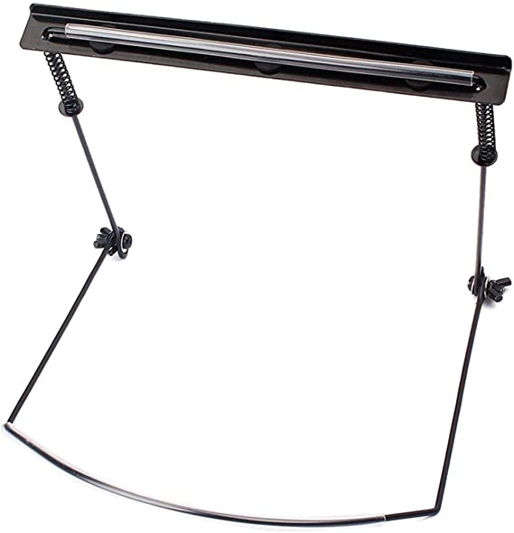 Black difcuyg5Ozw 10-Hole Harmonica Neck Holder Adjustable Music Mouth Organ Stand Harp Portable Metal Rack Instrument Accessories