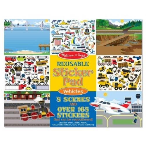 Melissa & Doug Reusable Sticker Pad: Vehicles