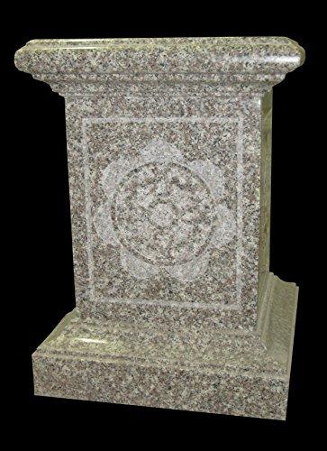 Cream Rose Granite Pedestal Indoor Outdoor Garden Lawn Park Arbor PD-26