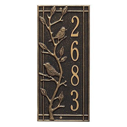 - Customized Woodbridge Vertical Aluminum Address Plaque 16.5