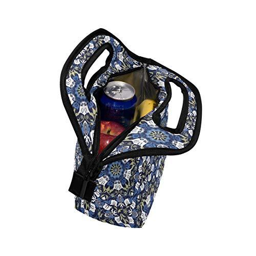 Picnic Sin Costuras Con Bolsa Diseño Para Cremallera Flor Tulipán Retro Y Abstracto De Floral Almuerzo qcTwp6H