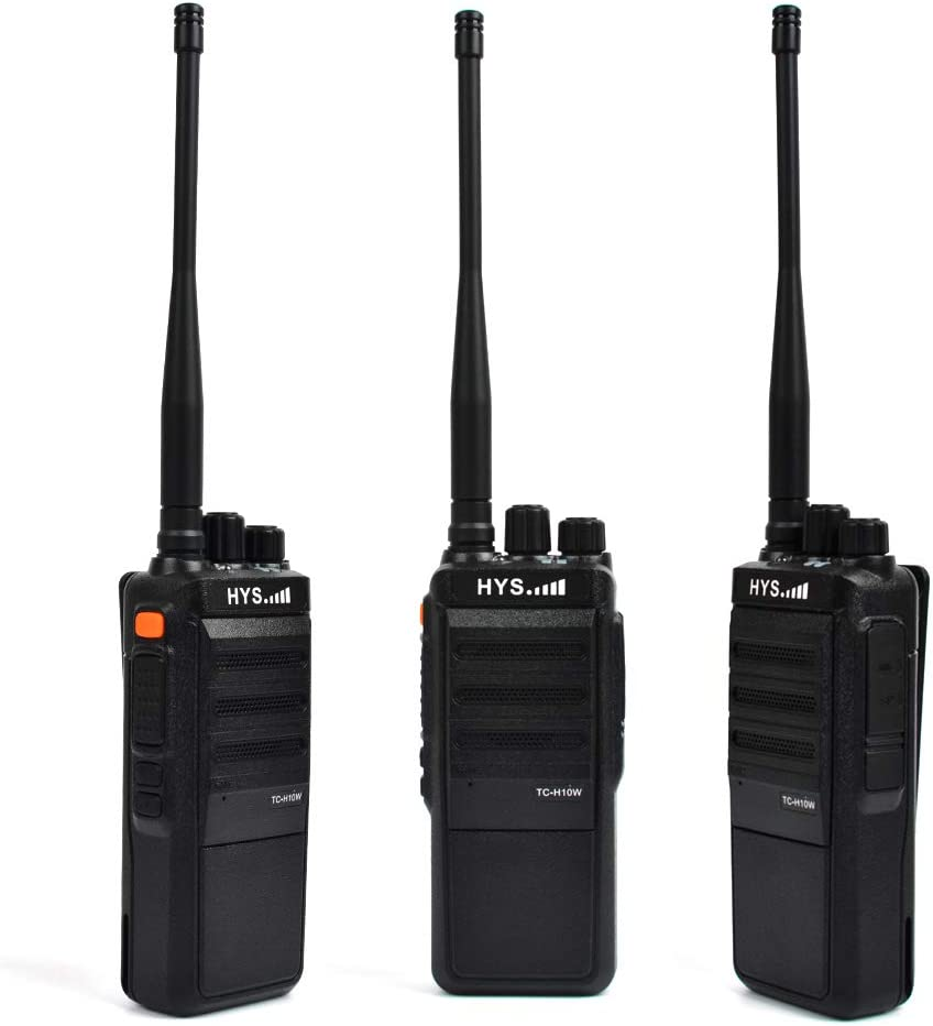 HYS TC-H10W High Power UHF 400-520MHz Two-Way Radio 20 Miles Long Distance Ham Radio Walkie Talkie with 2800mAh Battery Transceiver 2 Pack