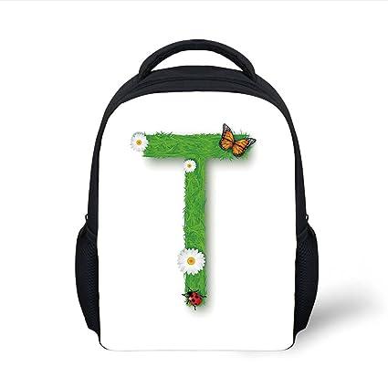 Amazon.com  iPrint Kids School Backpack Letter T b44c7adfdf158