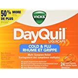 Vicks Dayquil Cold & Flu Liquid Capsules 24Ct- Packaging May Vary