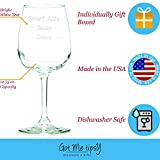 Got Me Tipsy Classy Sassy Smart Assy Funny Wine Glass - Birthday Gift Idea for Her, Mother's Day Gift - 13-Ounce, Glass