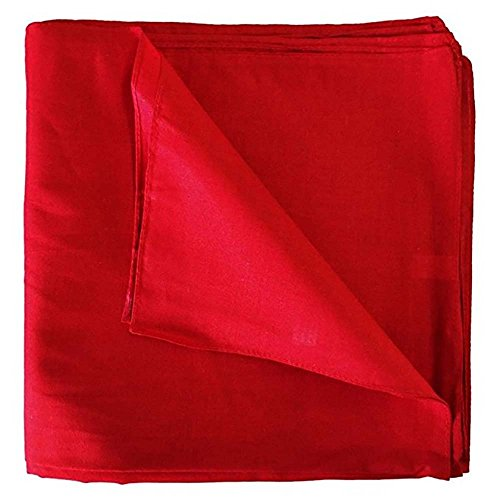 Mechaly Solid Colors 100% Cotton Bandana (Red)]()