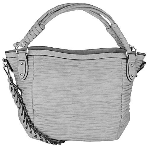 Mevina - Bolso de tela para mujer gris