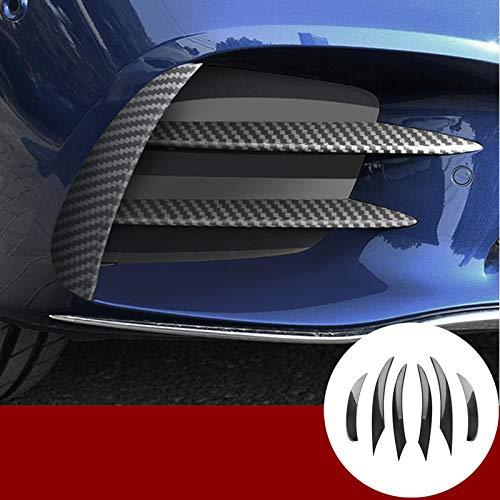 HOTRIMWORLD Carbon Fiber Style Front Bumper Grille Fog Light Trim Cover 6pcs for Mercedes-Benz C Class W205 2019