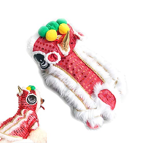 Univegrow Cute Lion Head Dance Cloth for Pet