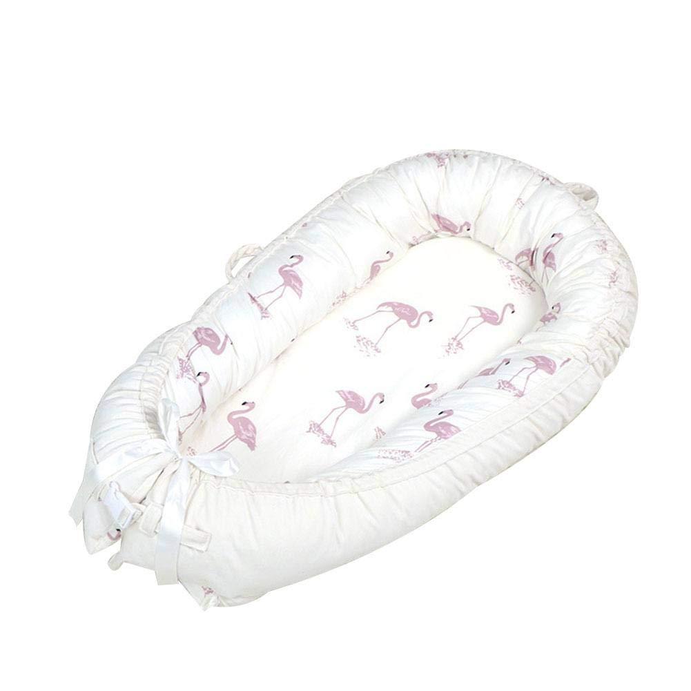 Wustrious BabyMattress Detachable Double Zipper Newborn Uterus Crib Comfortable Sleep Blanket Flannel Cotton Velvet