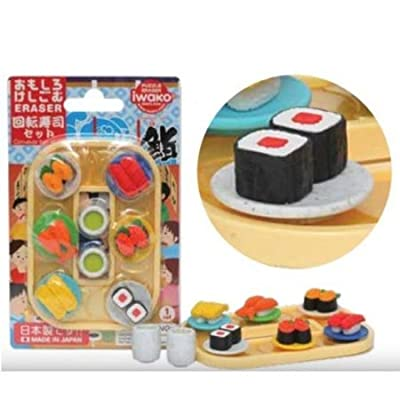 Puzzle Eraser iwako pre-Packaged Set of 9, Theme: Sushi: Toys & Games