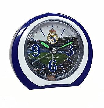 Real Madrid - Reloj despertador silencioso, redondo, del Club Real Madrid: Amazon.es: Hogar