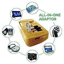 iSMARTECH Multiple USB Power Charger - Universal Power Adapter - USB Travel Adapter (Gold)