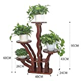 BLRYP Plant Stand Flower Stand Solid Wood Living Room Interior Balcony Flower Shelf Floor Multi-Layer Pot Rack Flower Pot Holder,Plant Display Stand (Color : 4 Tier)