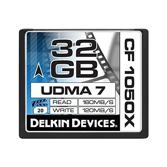 Delkin 128 GB CF 1050X UDMA 7 Cinema Memory Card (DDCF1050-128 GB) 2 4K UltraHD Approved Sustains High Frame Rates Excels in Digital Backs