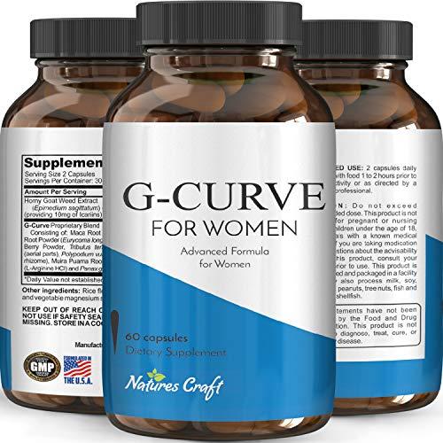 Optinatural G-Curve dietary female supplement, 60 Caps (Weight Gain Pills Women)